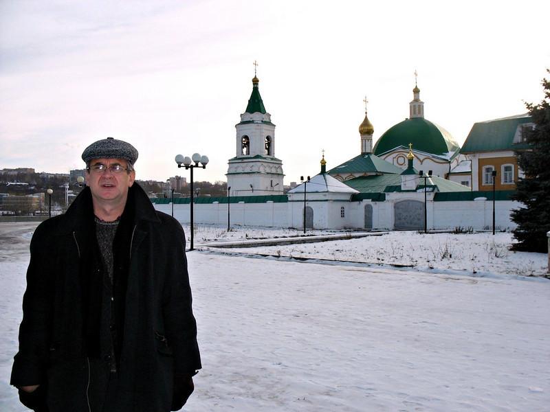 In front of the Cheboksary's men's monastery.