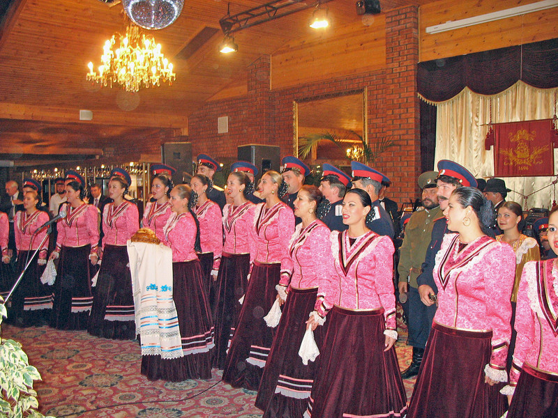 Cossack dinner reception. (Rostov-on-Don, Russia)