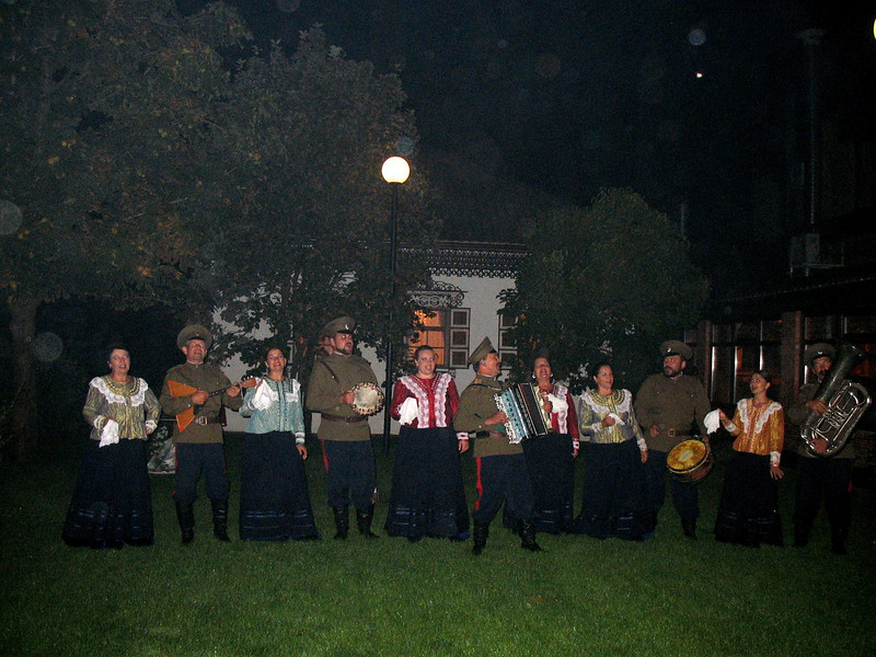 Cossack entertainment on the lawn.