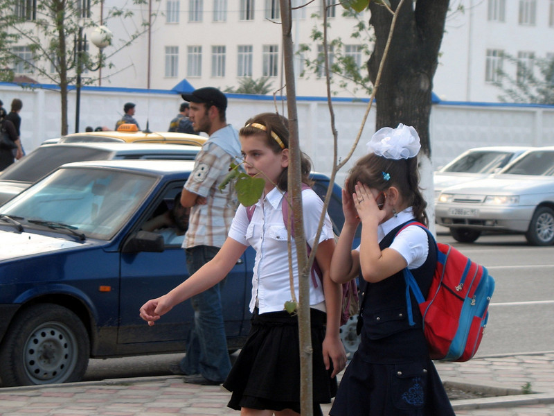 Grozny school girls.
