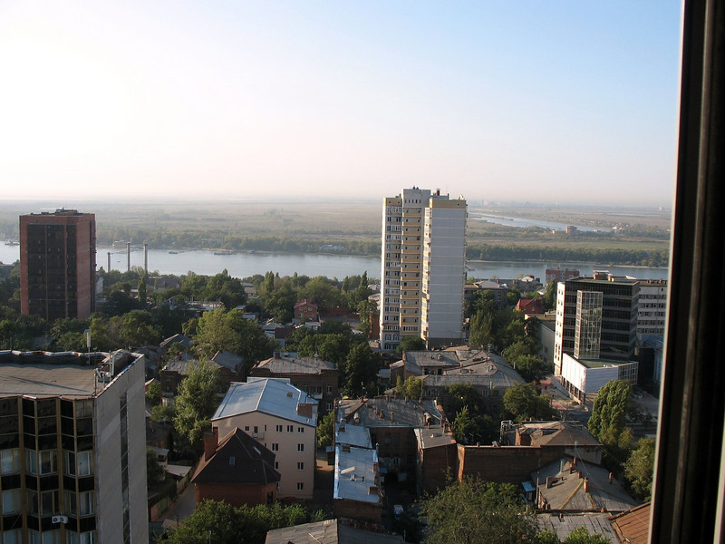 View to the Don River from Rostov hotel.