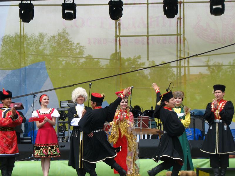 Ocean of Compassion dance performance. (Elista, Kalmykia)