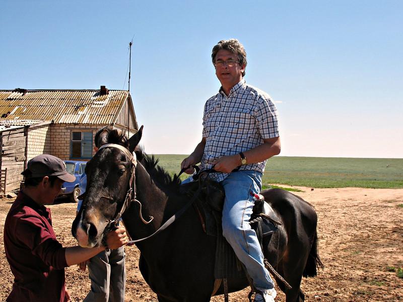 Rustem looks a bit big for this horse.