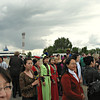 Airport crowd. (Elista, Kalmykia)