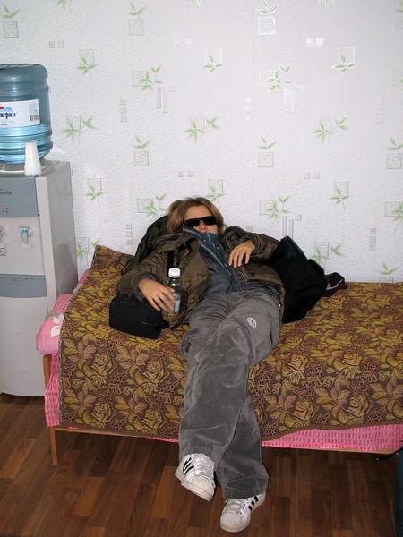 An exhausted Levitskaya.