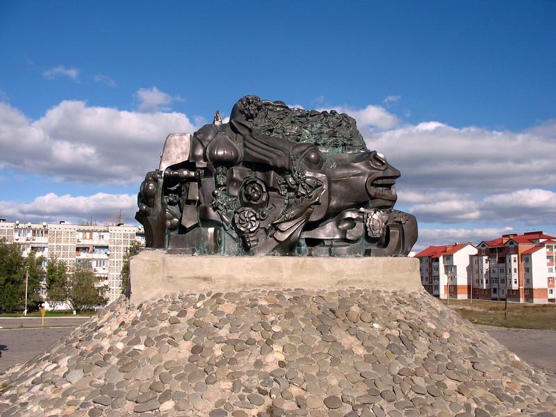 """Exodus & Return"" - Monument commemorating Stalin's deportation of the Kalmyk people."