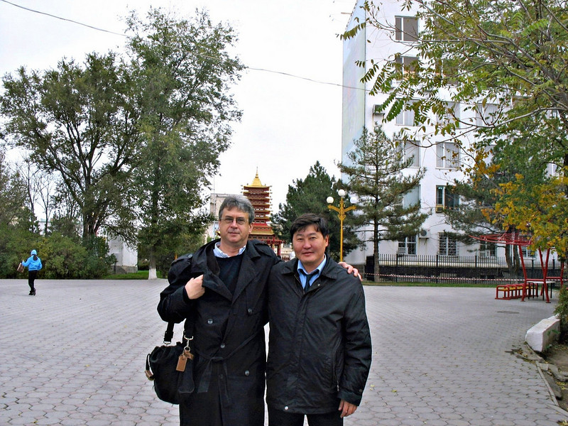 With Buyancha (President's Press Secretary).