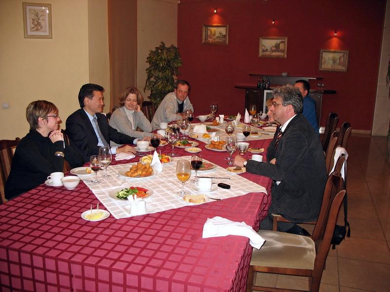 Dinner with the President of Kalmykia.