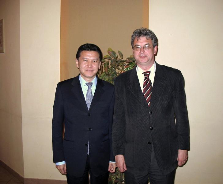 With Kalmykian President Ilyumzhinov.
