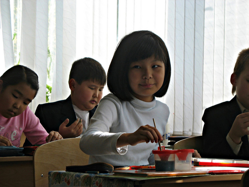 Elista school children.