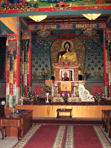 Inside Buddhist Temple.