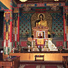 Inside Buddhist Temple.