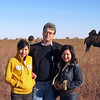 On the steppe with our translators.