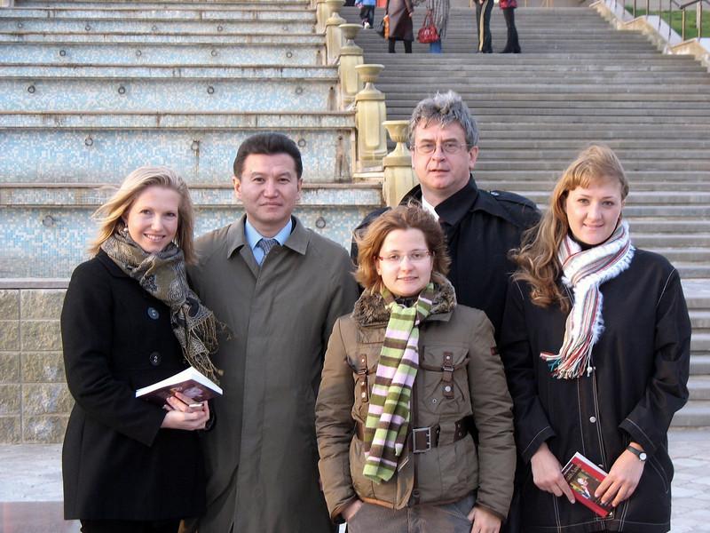 RT Close Up crew with Kalmykian President Ilyumzhinov.