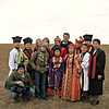 RT Crew with Kalmyk family on the steppe.