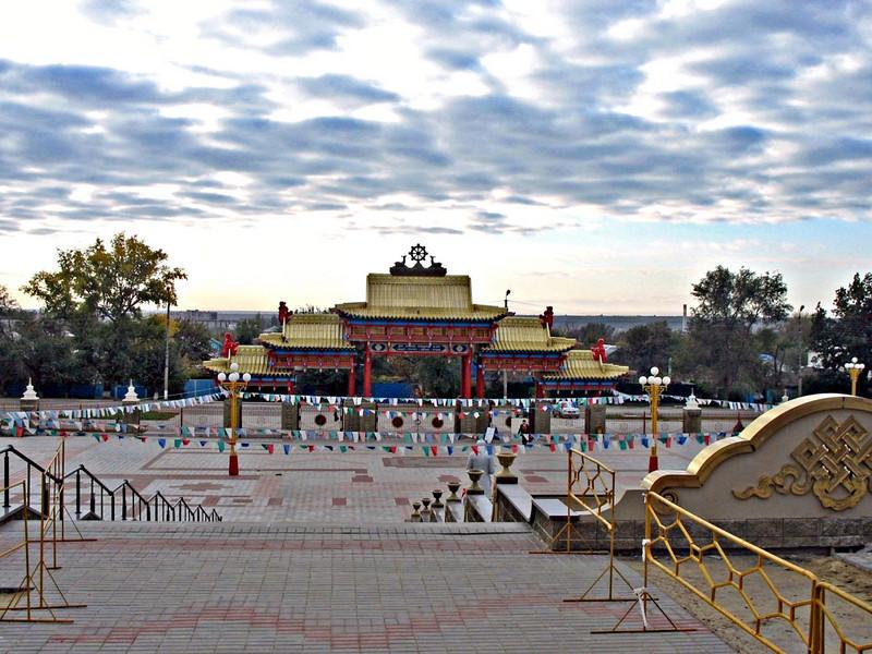 Buddhist Temple. (Elista, Kalmykia, Russia)