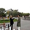 RT correspondent, Alice Hibbert, interviewing President Ilyumzhinov.