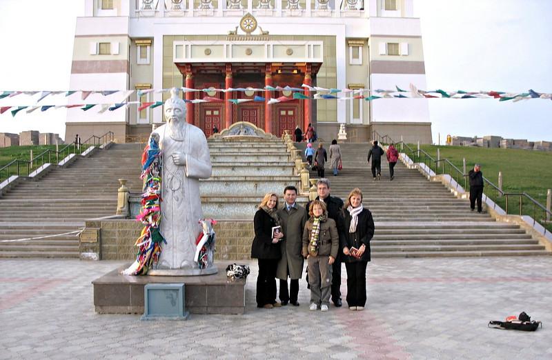RT crew with Kalmykian President, Ilyumzhinov.
