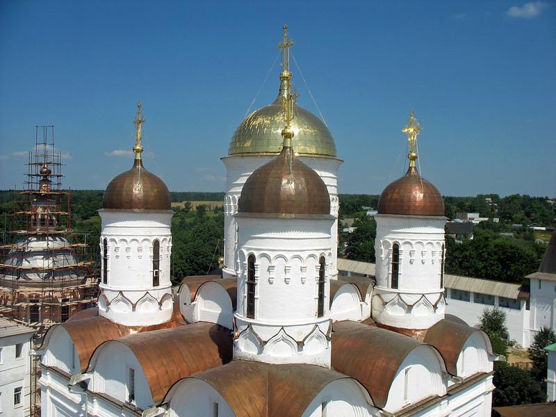 Borovsk monastery domes.