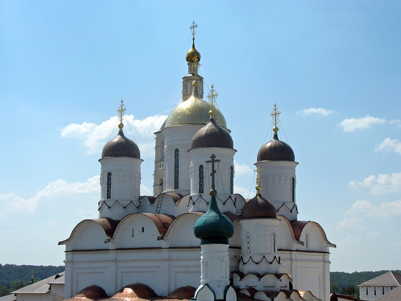 Pafnutiyev Monastery domes. (Borovsk)