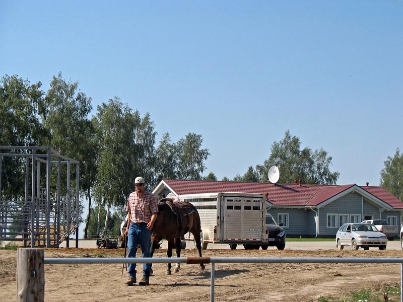 A cowboy from Nebraska, Erik Burken, has settled in Kaluga & heads the Angus Genetics Center.