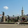 Borovsk town center. Gostiny Dvor & Lenin.
