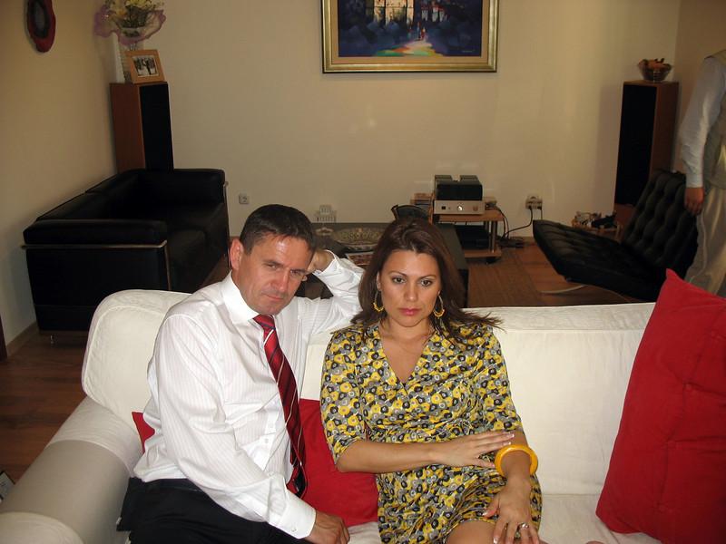 VW executive, Harald Manzenrieder, & his Brazilian born wife, Renata, in their Kaluga home.