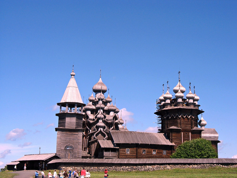The Transfiguration Church is about 37 meters tall (just over 121 feet), making it one of the tallest log structures in the world