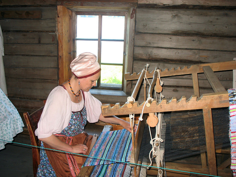 Traditional weaving demonstration.