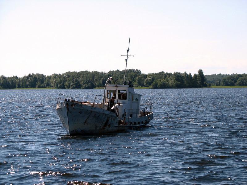 Fishing on Lake Onega.