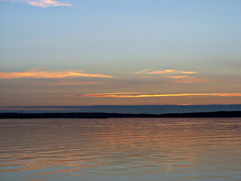 Sunset on Lake Onega. (Karelia, Russia)