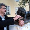 Two lions. (Petrozavodsk, Karelia, Russia)