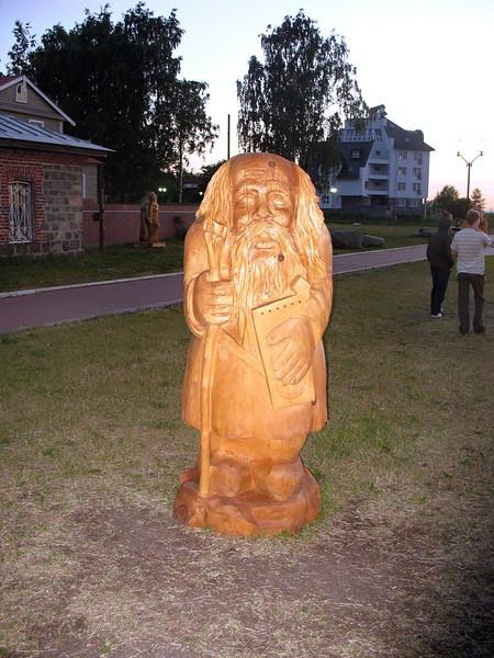 Wooden sculpture from Finnish Kalevala Legend.