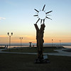 Sun statue. (Petrozavodsk, of Karelia, Russia)