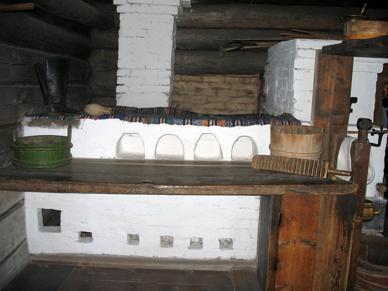 Traditional Russian stove.