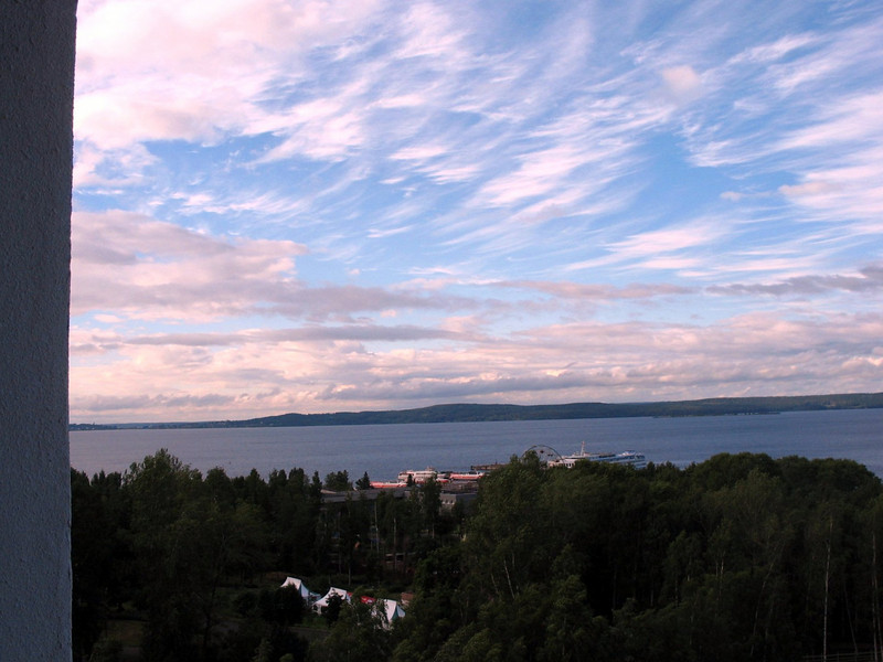Big Sky. View of Lake Onega from room at Hotel Karelia. (Petrozavodsk, Russia)