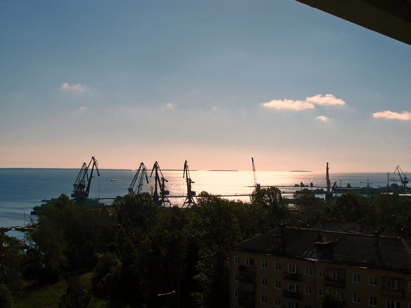 Cranes on Lake Onega.
