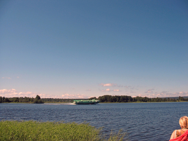 Hydrofoil on Lake Onega, the 2nd largest lake in Europe.