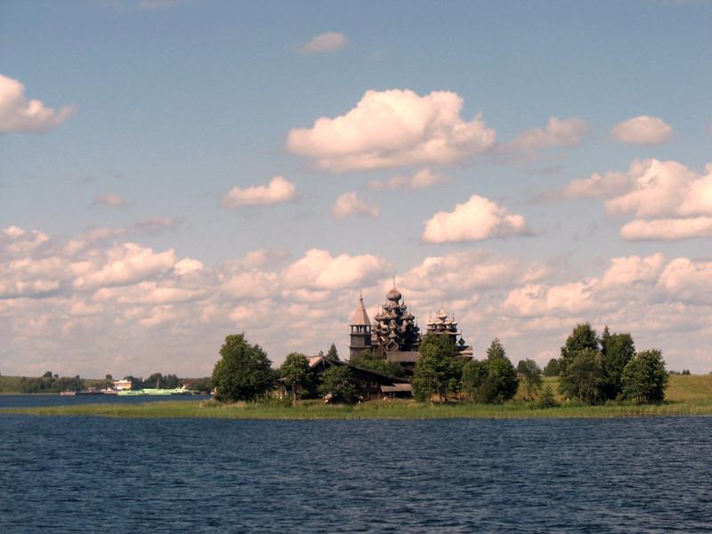 View of Kizhi Island & the Transfiguration Church from Lake Onega.