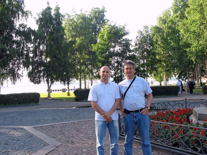 With new friend Vladislavl.