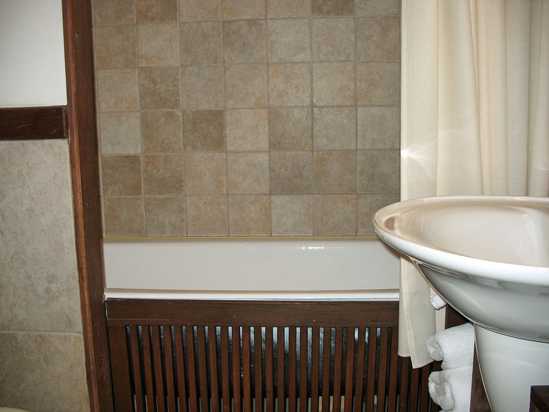 Bathroom at Hotel Gladenkaya.