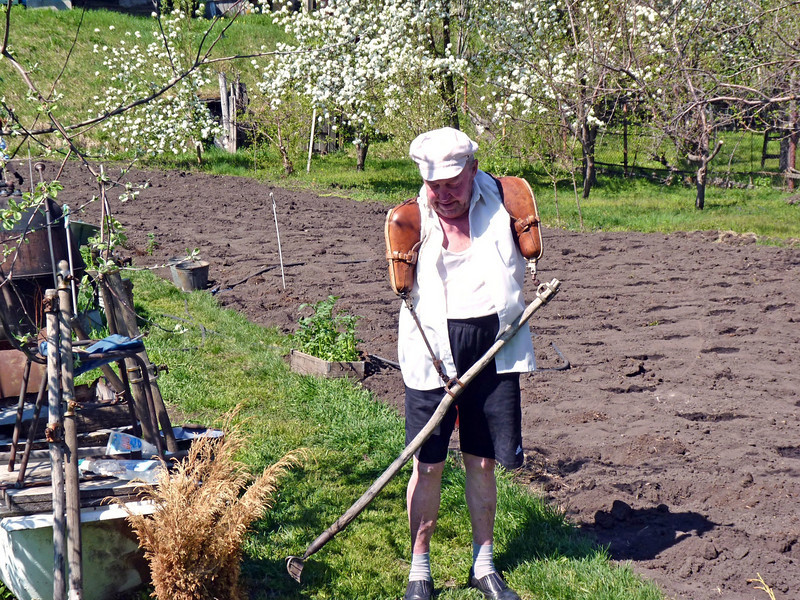 Vladimir said that his thoughts of suicide abated only after he took up gardening almost 50 years ago.