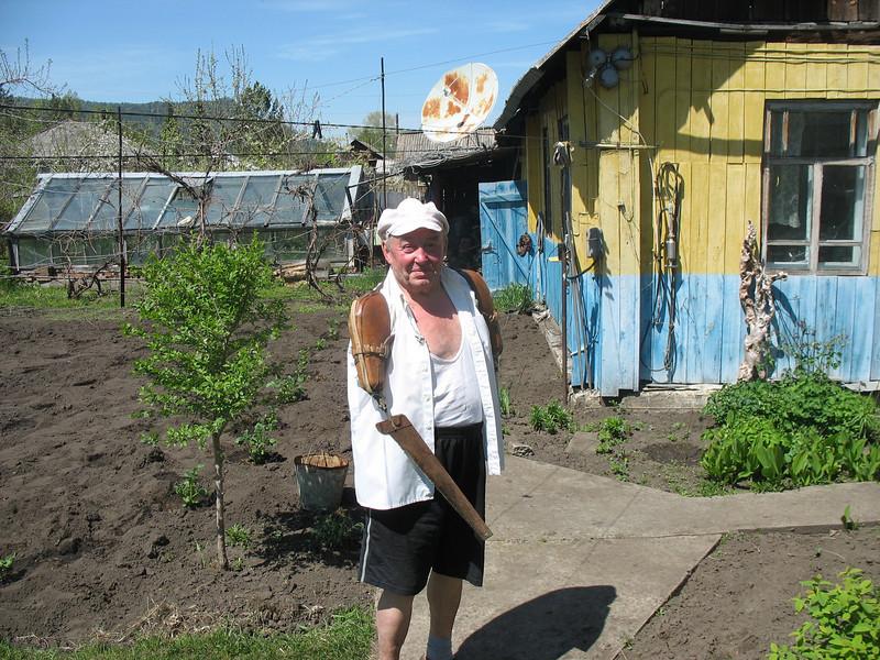 Vladimir with saw.