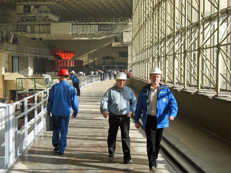 Generator Hall at the Sayano–Shushenskaya Hydroelectric Power Station.