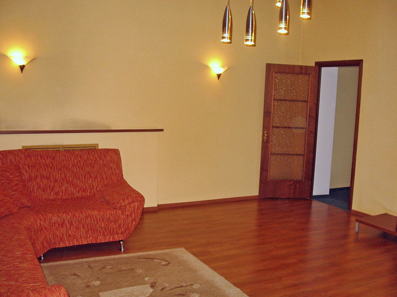 The living room of my suite at the Hotel Persona in the Khakass capital, Abakan.
