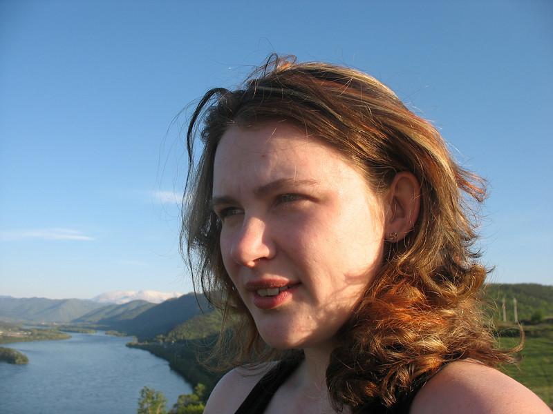 Anastasia Tukhaeva, local journalist. <br /> Анастасия Тюхаева, тележурналистка из Шушенского.