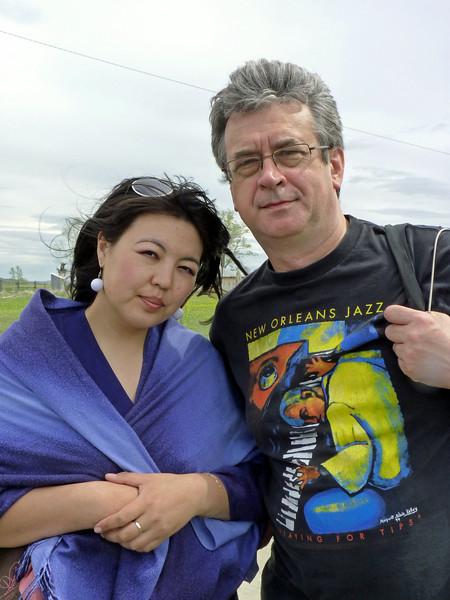 With Svetlana, Press secretary of the Askizsky District of Khakassia.