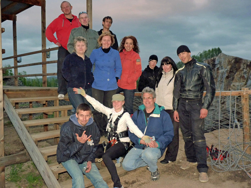 "RT team with members of the ""Elite Extreme"" Club."