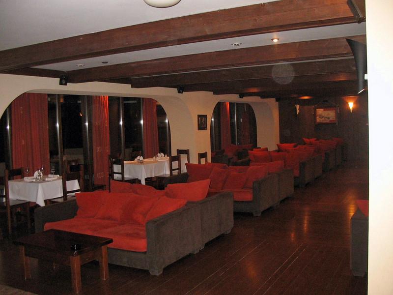 The lobby bar of Hotel Gladenkaya.