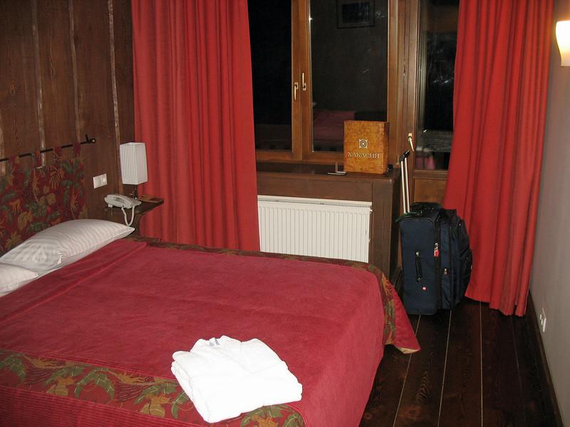 My room at Hotel Gladenkaya.